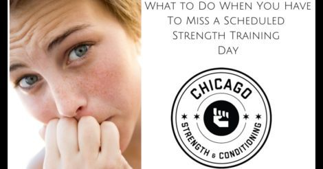 What to Do When You Have To Miss a Scheduled strength training Day