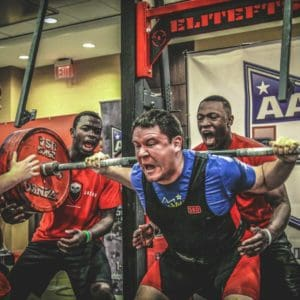 David Abdemoulaie Squats 277.5 kg at AAPF Nationals 2015