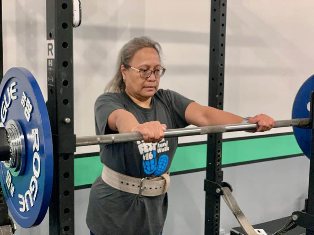 Ruth - Preparing to Squat